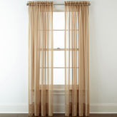 Liz Claiborne Lisette Stripe Sheer Rod-Pocket Curtain Panel