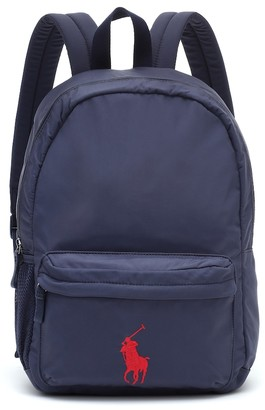 Polo Ralph Lauren Kids Embroidered backpack