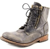 Bed Stu Tactic Women Round Toe Leather Black Boot.