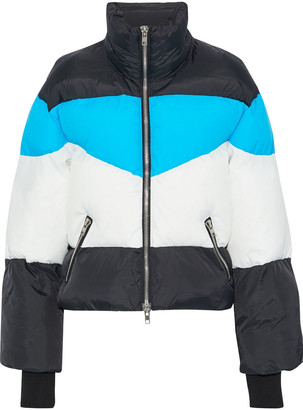 Walter Baker Edwina Color-block Quilted Shell Jacket