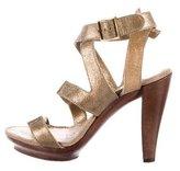 Lanvin Metallic Distressed Sandals