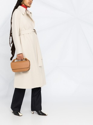 Harris Wharf London Belted Felted Wool Wrap Coat
