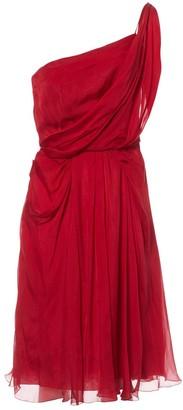 Philosophy di Alberta Ferretti Red Silk Dress for Women