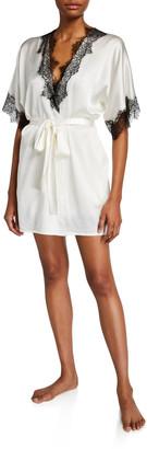 Christine Lingerie Arabella Lace-Trim Short Robe