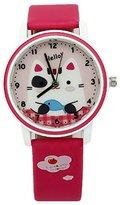 Kezzi Girls' Wrist Watches K667 Quartz Analog Cartoon Kids Leather Strap Watch Red