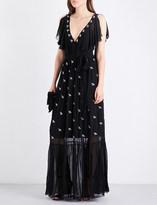Temperley London Starling sleeveless chiffon gown