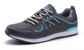 Gray & Turquoise Mesh Lace-Up Sneaker