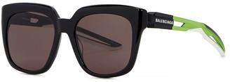 Balenciaga Black Oversized Sunglasses
