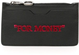 Off-White For Money Embroidered Coin Purse