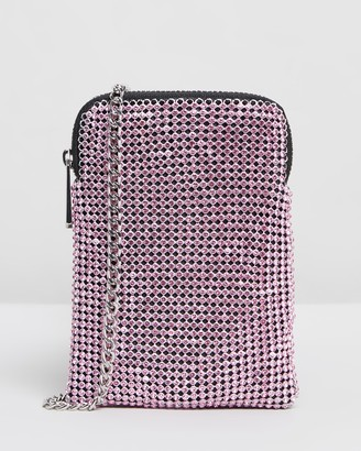 Topshop Fifi Diamante Pouch Bag