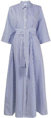 P.A.R.O.S.H. Stripe-Print Tie-Waist Dress