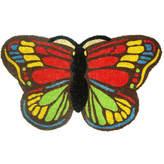 Asstd National Brand Colorful Butterfly Rectangular Doormat - 18X30