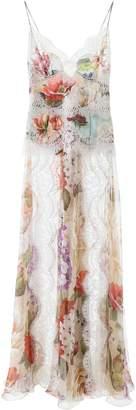Dolce & Gabbana Floral Print Slip Maxi Dress