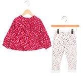 Petite Bateau Girls' Floral Print Gathered Pants Set