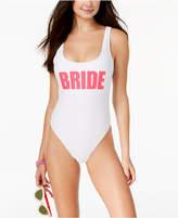 California Waves Juniors' Bride Graphic One-Piece Swimsuit Women's Swimsuit