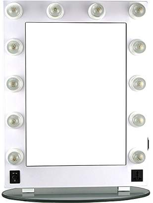 Hiker 12 Dimmer Light Piece Body and Glass Base Hollywood Vanity Makeup Wall Mount Mirror Table Top
