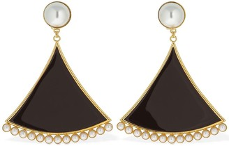 ROWEN ROSE Triangle Clip-on Pendent Earrings