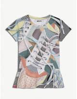 Molo Robbin sneaker-print stretch-cotton dress 4-14 years