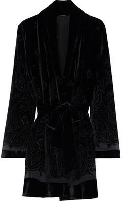 Elie Tahari Coley Belted Devore-velvet Kimono