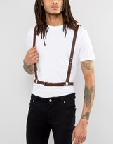 Asos Leather Harness In Brown