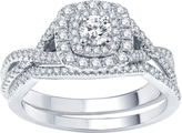 JCPenney MODERN BRIDE Modern Bride Signature 3/4 CT. T.W. Certified White & Color-Enhanced Blue Diamond Ring Set