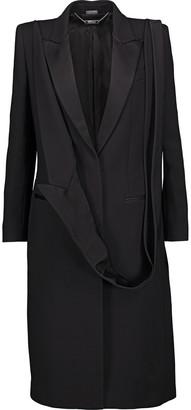 Alexander McQueen Satin-trimmed Wool And Silk-blend Twill Jacket