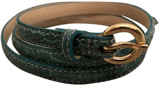 Maje Green Leather Belts