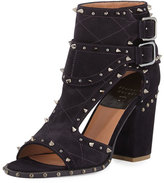 Laurence Dacade Deric Quilted Spike-Trim Sandal/Bootie