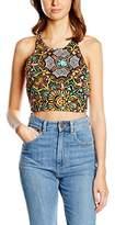 MinkPink Women's Mirror This Crop Aztec Sleeveless Top
