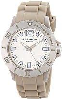 Akribos XXIV Women's AK536GY Essential Luminous Quartz Silicon Strap Watch