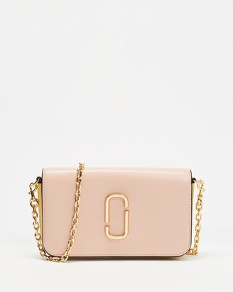 Marc Jacobs Women's Pink Leather bags - Snapshot Wallet with Cross-Body Chain - Size One Size at The Iconic