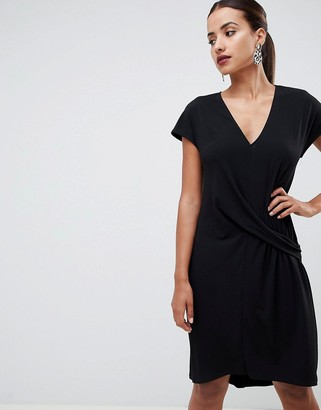 Asos Design DESIGN dropped waist dress-Black