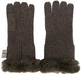N.Peal fur-trim gloves