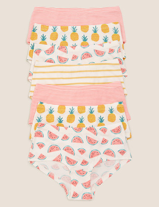 Marks and Spencer 7pk Cotton Fruit Shorts (2-16 Yrs)