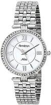 Swarovski Armitron Women's 75/5214MPSV Crystal Accented Silver-Tone Bracelet Watch