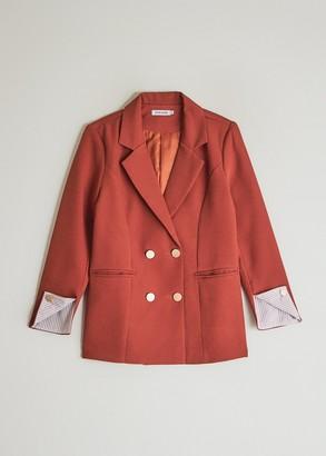 Stelen Women's Amala Suit Blazer Jacket in Brick, Size Medium