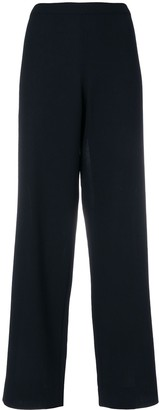 Chanel Pre Owned High Rise Wide-Legged Trousers
