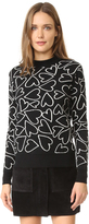 Markus Lupfer Heart Scribble Natalie Sweater