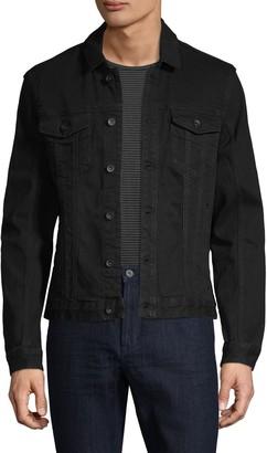 John Varvatos Spread Collar Denim Jacket