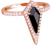 Kate Bissett Black Cubic Zirconia & Rose Goldtone Prism Ring