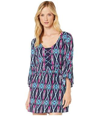 Rock and Roll Cowgirl Printed Short Sleeve Dress D4-2552