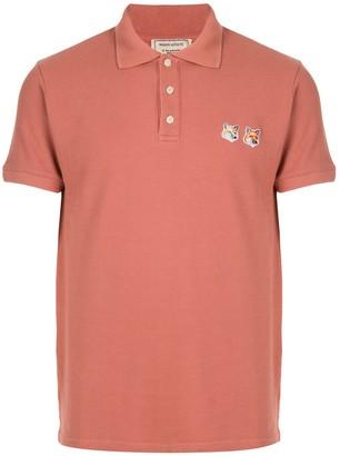 MAISON KITSUNÉ Double-Fox Polo Shirt