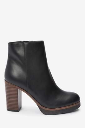 Next Womens Black Forever Comfort Platform Ankle Boots - Black