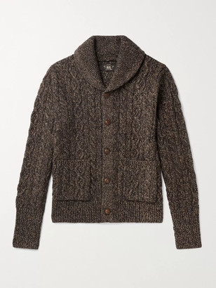 Ralph Lauren RRL Shawl-Collar Wool, Cotton And Linen-Blend Cardigan