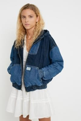 BDG Patchwork Denim Skate Jacket - blue XS at Urban Outfitters
