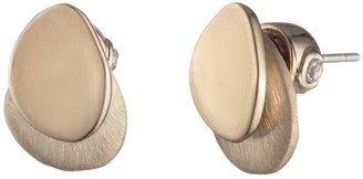 Carolee Golden Hour Two Layered Stud Earrings
