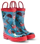 Hatley Blue Raining Dog Print Wellies