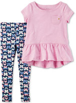 Carter's 2-Pc. Tunic and Butterfly-Print Leggings Set, Toddler Girls (2T-4T)