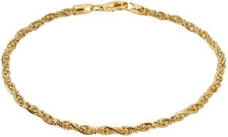Primavera Gold Over Sterling Silver Beaded Twist Chain Bracelet
