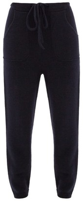 The Elder Statesman Cashmere Track Pants - Womens - Navy